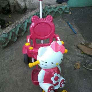 Hello kitty push bike