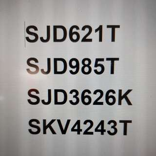 Registration Numbers for sale