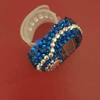 ROYAL BLUE DIGITAL SWAROVSKI TASBIH - 1 pc Only