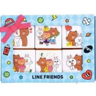 LINE FRIENDS 日本 情人節限定 朱古力 熊大 CONY