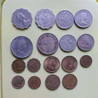 Assorted British Colonial Hong Kong Coins Queen Elizabeth II (1960-1982)