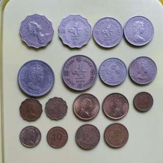 Assorted British Colonial Hong Kong Coins Queen Elizabeth II (1960-1982)