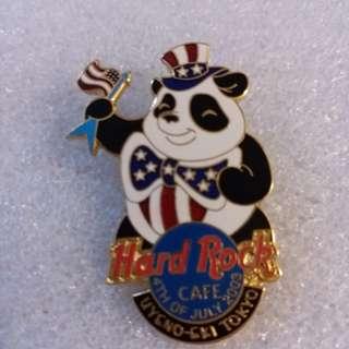 Hard Rock Cafe Pins ~ UYENO~EKI HOT & RARE 2003 4TH JULY INDEPENDENCE DAY PANDA BEAR PIN!