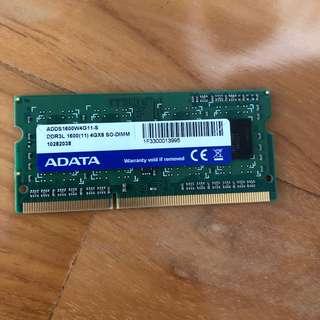 ADATA DDR3L 1600 SODIMM 4GB RAM