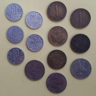 Austrian Schilling Coins (1951-1990)