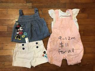 9-12 month bundle for baby girl
