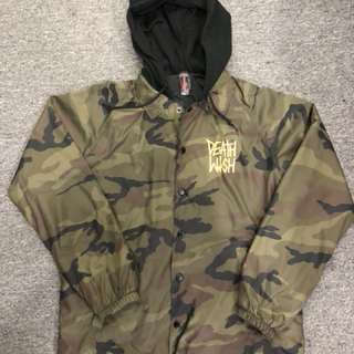 Deathwish THE TRUTH CAMO HOODED COACHES JACKET