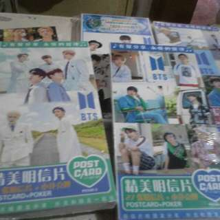 K pop Post card and k pop notebook (bts and exo)