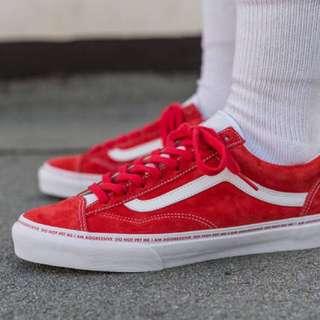 Sankuanz x Vans Red Sneakers