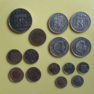 Netherlands Holland Dutch Coins (1967-1987)