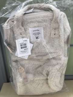 Anello Backpack White Furry Material