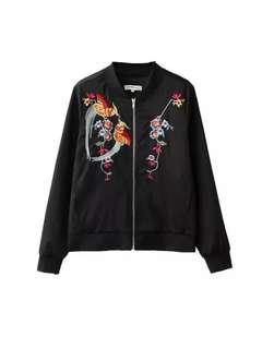 Embroidery Bomber Jacket