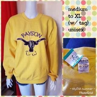Yellow sweatshirt fits medium to XL (UNISEX)
