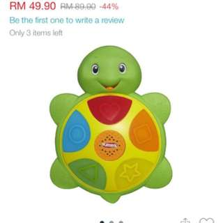 Fisher Price Toy shape and colours turtle