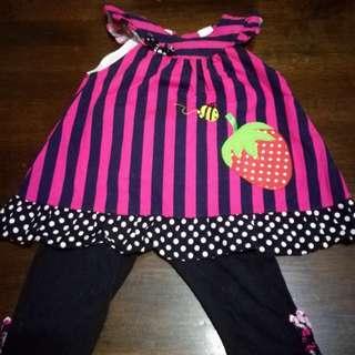 Girl's dress set