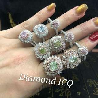 🎯 觸動你的心靈🍀迷人天然彩鑽💎 Diamond ICQ 鑽石專大買店💎妳的專屬首飾顧問