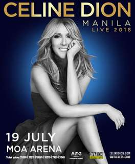 Selling 2 Upperbox tickets for June 19 (1st day) concert Celine Dion Live in Manila