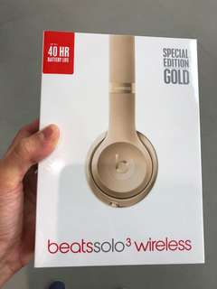 Beat solo3 wireless gold