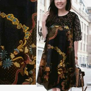TiaCR CH JUMBO BATIK SARAHI batik dress (no barter, no nego)
