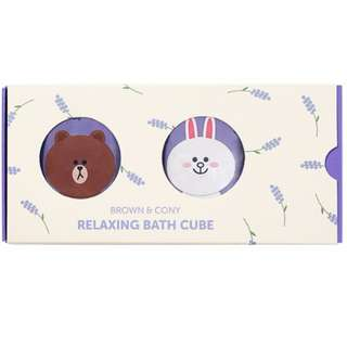 LINE FRIENDS 日本限定 熊大 brown & cony bath cube 浴皂
