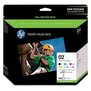 HP 02 Photo Value Pack Ink Cartridge (CG849AA)