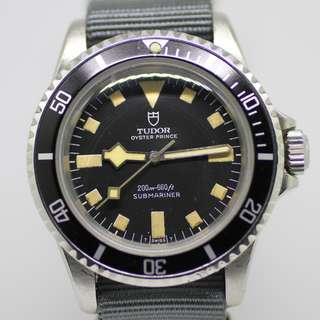 Vintage 1973 Tudor Black Submariner 7016/0 Snowflake