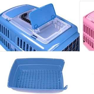 寵物運輸籠 - 外出上開式(磚藍色)