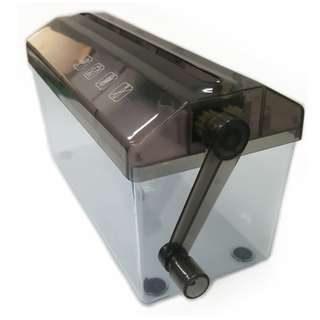 Nice black color hand powered A4 size paper shredder for cutting your personal receipt, film, document now available