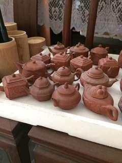 Lots of mini Clay teapots