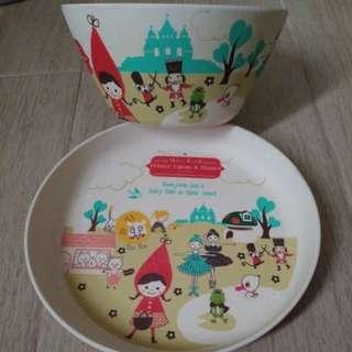 小紅帽碗碟一套 bowl and plate