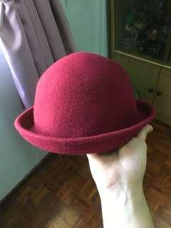 Vintage Maroon Hat