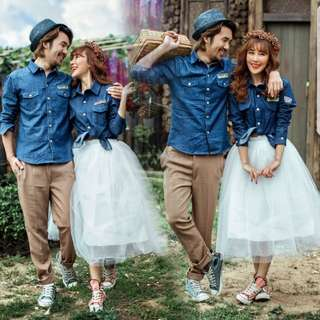 Couple Casual Wear for Pre-Wedding Photoshoot