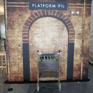 Harry Potter Platform 9 and 3 Quarter Backdrop