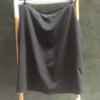 Pinstripe black skirt