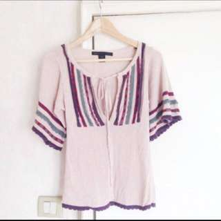 🈹Marc By Marc Jacobs Knit Top Pink 粉紅民族針織上衣
