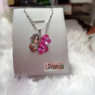 Swarovski elements crystal lucky clover necklace