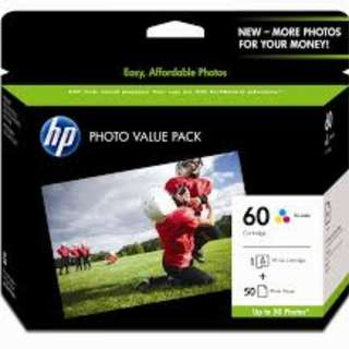 HP 60 Photo Value Pack-50 sht/10 x 15 cm (CG848AA)