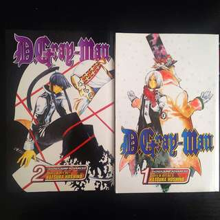 D.Gray-man Manga Vol 1 & Vol 2 (English)