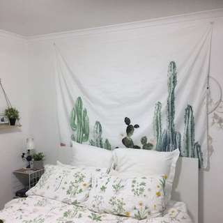Cactus / Cacti Wall Hanging Tapestry