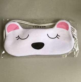 Pink polar bear sleeping mask