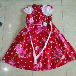 Dress bunga mawar