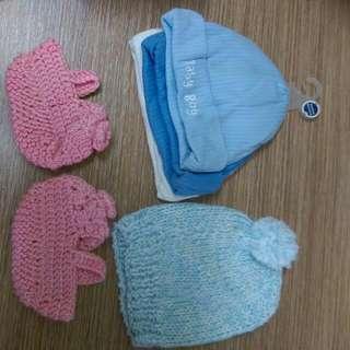 保暖 Baby 帽子 毛帽 襪子