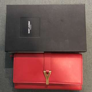 YSL Y Red wallet (Authentic)