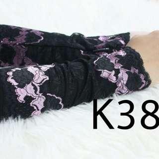 RS premium Aisyah lace handsock - K38