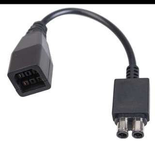 Power brick converter cable for xbox 360 fat to slim console