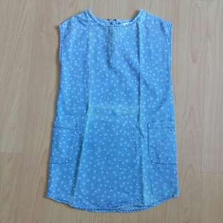 Fox Denim Shirt Dress