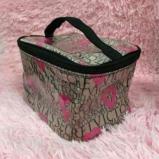 Victoria Secret PVC stripe Makeup Bag
