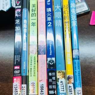 二手DVD 一片150 3片400