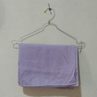 Kerudung Pashmina Light Purple Pastel