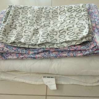Quilt, cover, pillow covers set 二手被芯,被套,枕頭套